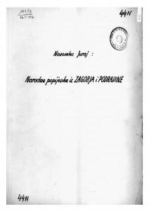 Narodne popijevke iz Zagorja i Podravine, 1950.
