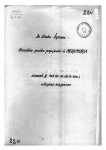Hrvatske pučke popijevke iz Međimurja, sv. X., 1920, 1923-1925, 1934- 1944.