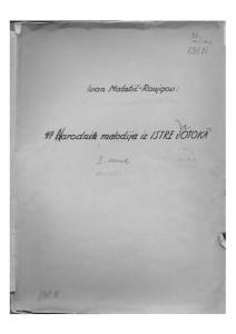 Narodne melodije iz Istre i s otoka, sv. II.; pjesme 60 - 106, 1952.