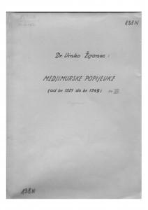 Hrvatske pučke popijevke iz Međimurja, sv. XV., 1952.
