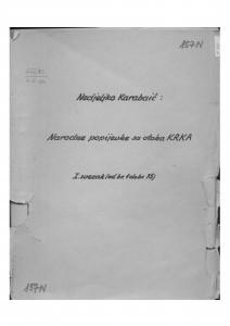 Narodne popijevke s otoka Krka, sv. I., (ONŽO NZ 73 a), 1946-1953.