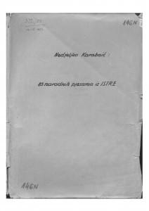 Narodne popijevke iz Istre, sv. II., 1952.