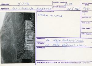 Folklorna građa iz Konavala 2, 1961.: Stara mlinica.