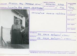 Folklorna građa hrvatskih sela u Slovačkoj; Devinska Nova Ves, 1966.: Kazivačica Marija Hržičova.