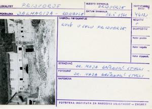 Folklorna građa iz Konavala 2, 1961.: Kuće u selu Pridvorje.