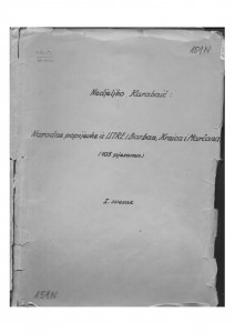 Narodne popijevke iz Istre, sv. I., 1952.