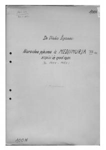 Hrvatske pučke popijevke iz Međimurja, sv. XIII., 1951.