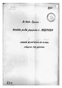 Hrvatske pučke popijevke iz Međimurja, sv. XI., 1920, 1923- 1925, 1934- 1944.