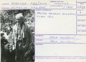 Etnološka i folklorna građa otoka Brača, 1969.: Pastir Romano Kusanović, rođen 1910.