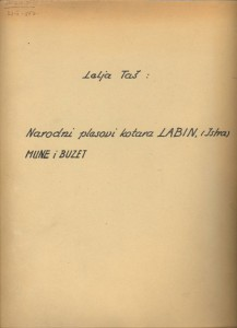 Narodni plesovi kotara Labin (Istra), Mune i Buzet