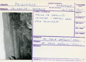 Folklorna građa iz Konavala 2, 1961. Pogled na katolički samostan i kapelu kraj sela Pridvorje.