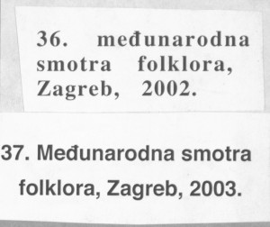 36. Međunarodna smotra folklora // 37. Međunarodna smotra folklora