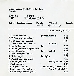 Smotra u Puli, 1953.