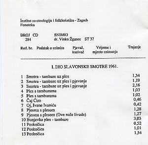 Smotra u Novoj Kapeli (Slavonija), 1961.