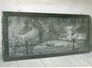 Narodne pripovijetke, predaje i pjesme s otoka Hvara, sv. 1-2, 1965, 1966.: Poklopacmornarske škrinje s prikazom neke napoleonske bitke (galerija slika)