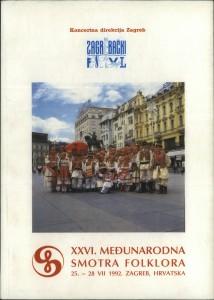 XXVI. Međunarodna smotra folklora : Zagreb, 1992.