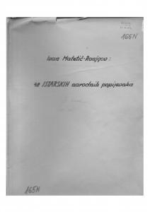 48 Istarskih narodnih popijevaka, sv. III.; pjesme 107- 154, 1952.