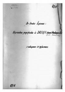 Narodne popijevke iz Drenja (kotar Đakovo), 1950.