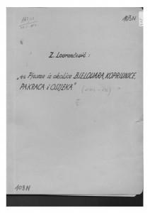 Pjesme iz okolice Bjelovara, Koprivnice, Pakraca i Osijeka, sv. III., 1950., 1951.