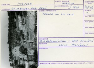 Etnološka i folklorna građa otoka Brača, 1969.: Pogled na dio sela.