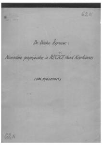 Narodne popijevke iz Rečice (kod Karlovca), 1947, 1950.