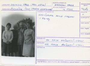 Folklorna građa hrvatskih sela u Slovačkoj; Devinska Nova Ves, 1966.: Književnik Milo Urban i obitelj.