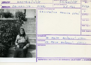 Kazivačica Marija Beroš.