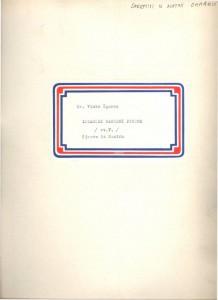 Istarske narodne pjesme; Pazin, sv. V., 1957.