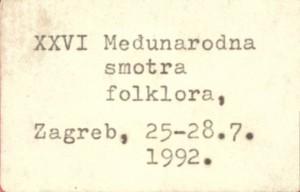 XXVI. Međunarodna smotra folklora