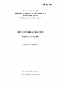 Domovinski rat i ratne žrtve u 20. stoljeću: etnografski aspekti. Stanovnik blizu bolnice. Šibenik, travanj 2004.