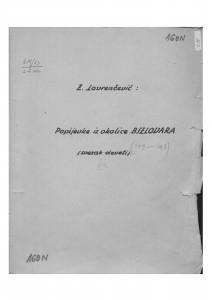 Popijevke iz okolice Bjelovara, sv. VIII., 1953.
