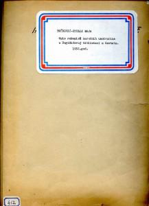 Opis rukopisa narodnih umotvorina u Bogišićevoj biblioteci u Cavtatu, 1952.