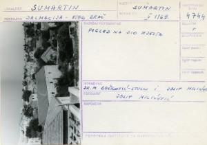 Etnološka i folklorna građa otoka Brača, 1969.: Pogled na dio mjesta.