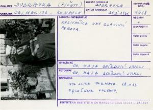 Folklorna građa iz Konavala 2, 1961.: Kazivačica Ane Glavinić Perova.