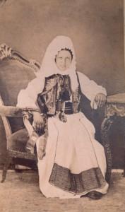 Fotografije nošnji. Žena iz Konavala.