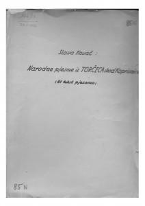 Narodne pjesme iz Torčeca (kod Koprivnice), 1936- 1937.