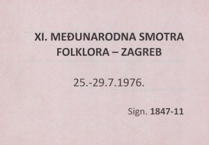 XI. Međunarodna smotra folklora