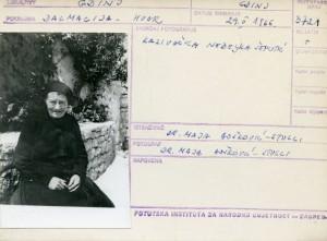 Kazivačica Neđeljka Šeputić.