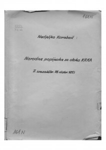 Narodne popijevke s otoka Krka, sv. II., (ONŽO NZ 73 b), 1946-1953.