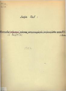 Narodne pjesme, običaji, praznovjerja i pripovijetke okolice Buja 1952.