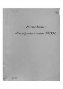 Narodne popijevke iz kotara Pakrac, 1951.