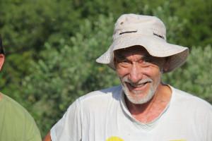 Berba lavande na polju Breslavica vlasnika Bartola Dulčića, selo Rudina, otok Hvar, 6.7.2016.: Bartol Dulčić.