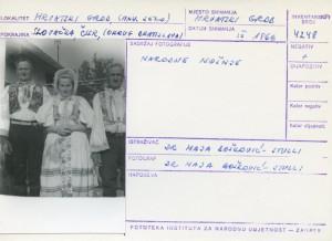 Folklorna građa hrvatskih sela u Slovačkoj; Devinska Nova Ves, 1966.: Narodne nošnje.