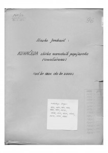 Narodne popijevke  1801 - 2000.
