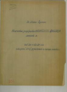 Redigirana zagorska zbirka, sv. I. - VII.