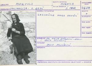 Narodne pripovijetke i predaje otoka Brača, 1969.: Kazivačica Mara Pavišić.