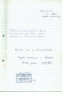 Folklorna instrumentalna glazba  Hrvatskog primorja i Istre - analiza objavljenih i rukopisnih zbirki. Seminarski rad iz etnomuzikologije - Muzička akademija u Zagrebu 1986.