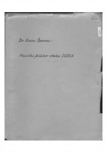 Muzički folklor otoka Suska, 1954.- 1956.