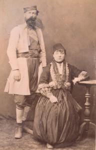 Fotografije nošnji. Crnogorac i muslimanka.