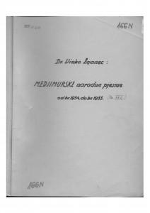 Hrvatske pučke popijevke iz Međimurja, sv. XXII., 1953.